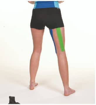 how to apply tape to hamstring step 7
