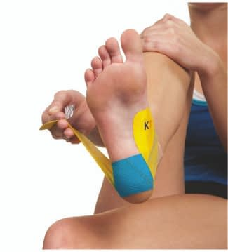 how to apply tape for peroneal tendonitis step 6