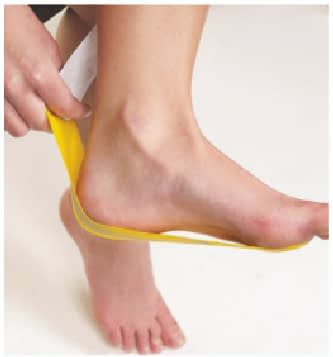 how to apply tape for plantar fasciitis step 3