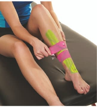 how to apply tape to shin splints step 7
