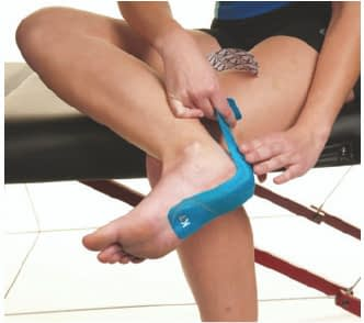 how to apply tape to achilles tendonitis step 2
