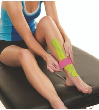 how to apply tape to shin splints step 5