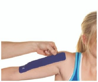 how to apply tape to biceps step 2