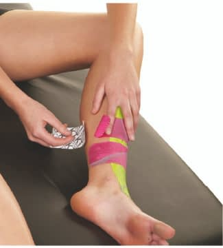 how to apply tape to shin splints step 8
