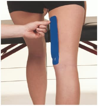how to apply tape to hamstring step 2