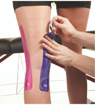 how to apply tape to back of knee step 7