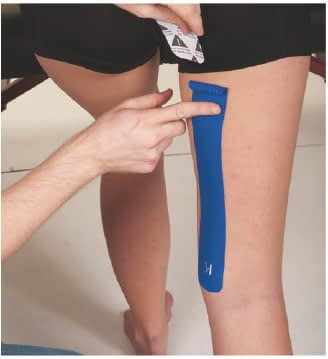 how to apply tape to hamstring step 4