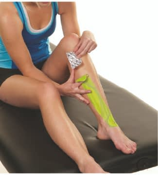 how to apply tape to shin splints step 4