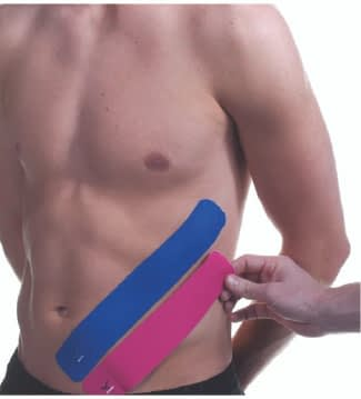 how to apply tape to abdominals step 5