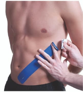 how to apply tape to abdominals step 4