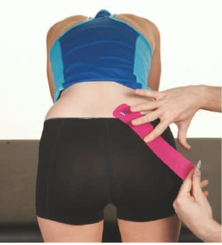 how to apply tape to glutes step 3
