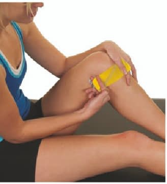 how to apply tape to inner knee step 2
