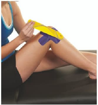 how to apply tape to outer knee step 6
