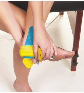 how to apply tape to heel step 4