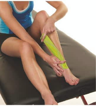how to apply tape to shin splints step 3