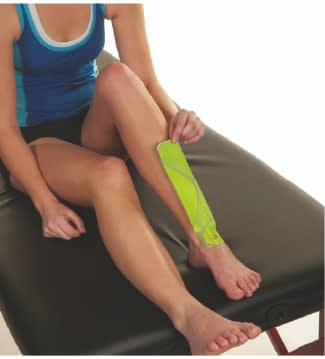 how to apply tape to shin splints step 2