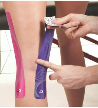 how to apply tape to back of knee step 6