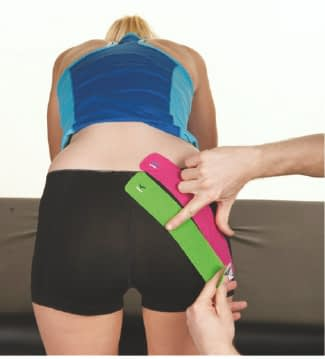 how to apply tape to glutes step 6