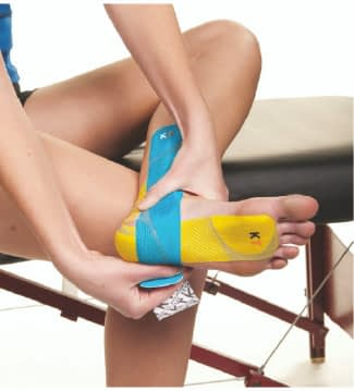 how to apply tape for plantar fasciitis step 6