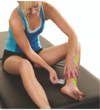 how to apply tape to shin splints step 6