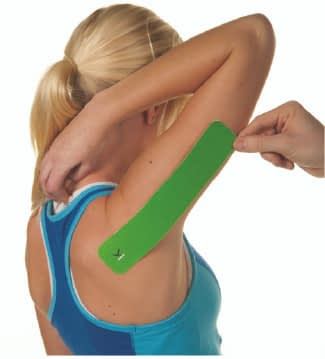 how to apply tape to triceps step 2