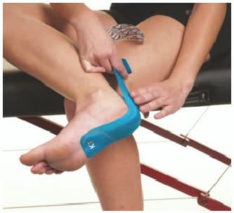 how to apply tape to achilles tendonitis step 3