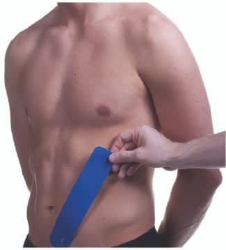 how to apply tape to abdominals step 2