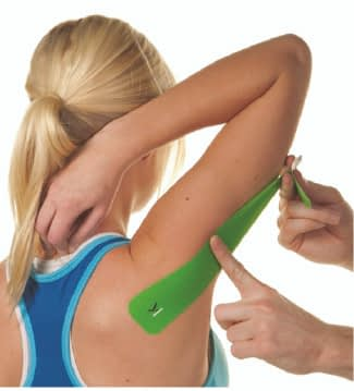 how to apply tape to triceps step 3