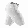 Hex Protection Short With Contoured Wrap-around Thigh white 7991