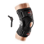 429X knee brace polycentric hinges and cross straps