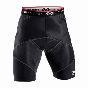 Cross Compression Short Met Hip Spica zwart 8200