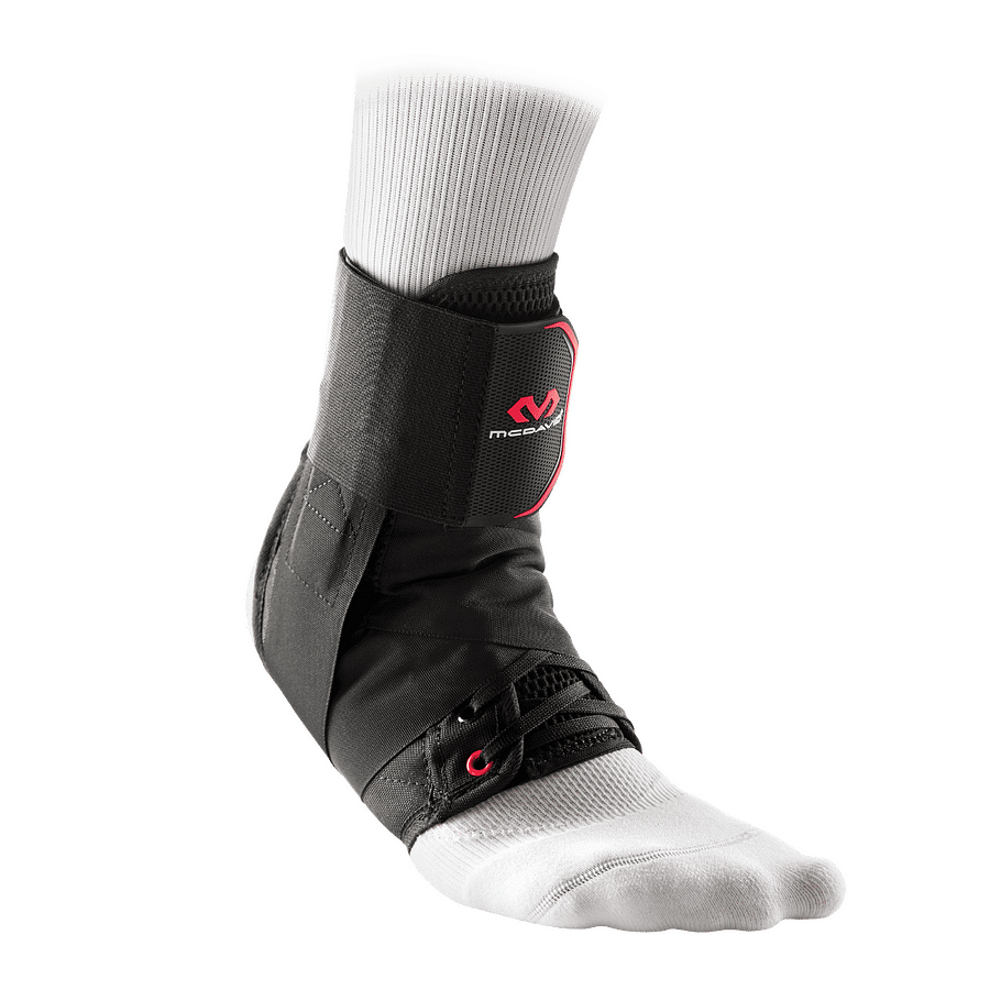 195 ankle support with straps black