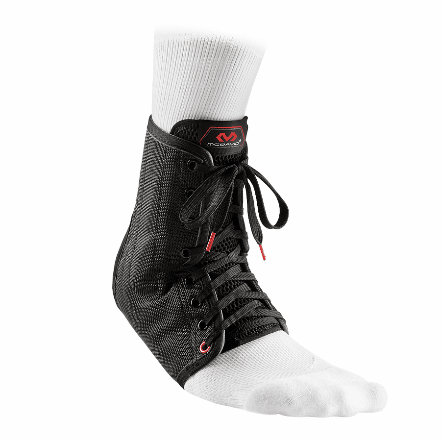 199 ankle support lace-up with stays black