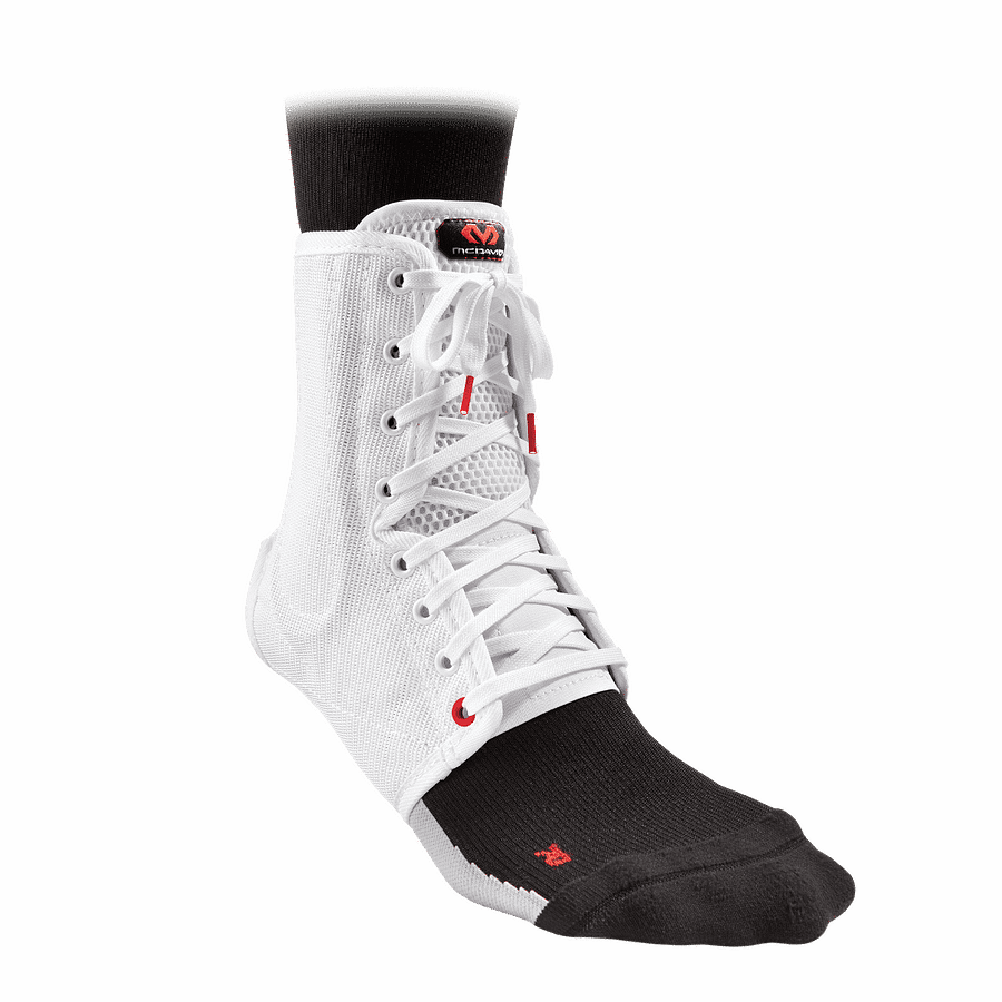 199 ankle support lace-up with stays white