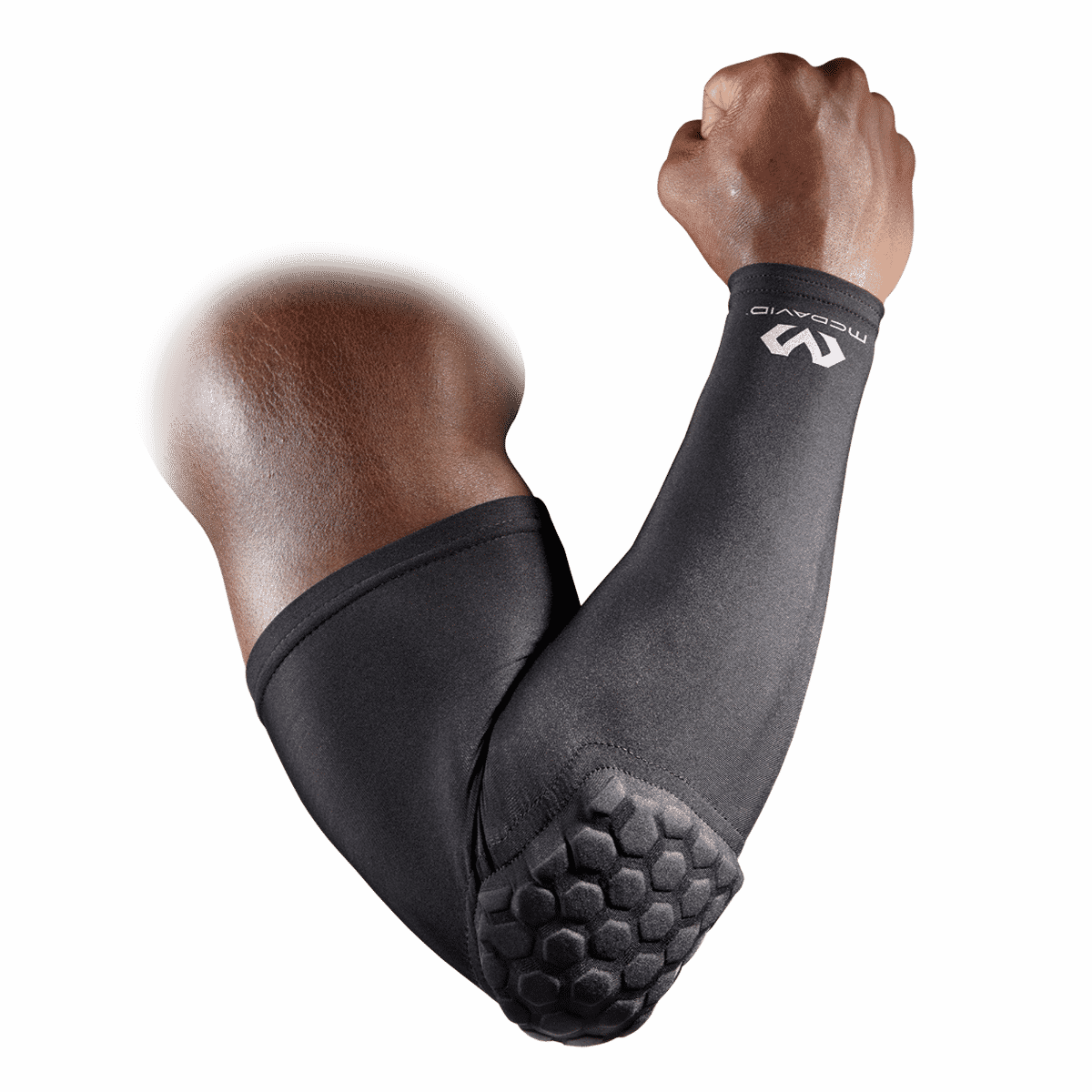 SHOOTER ARM SLEEVE 6500 Elbow Protective Pad BLACK LARGE Details about  /McDAVID HEX