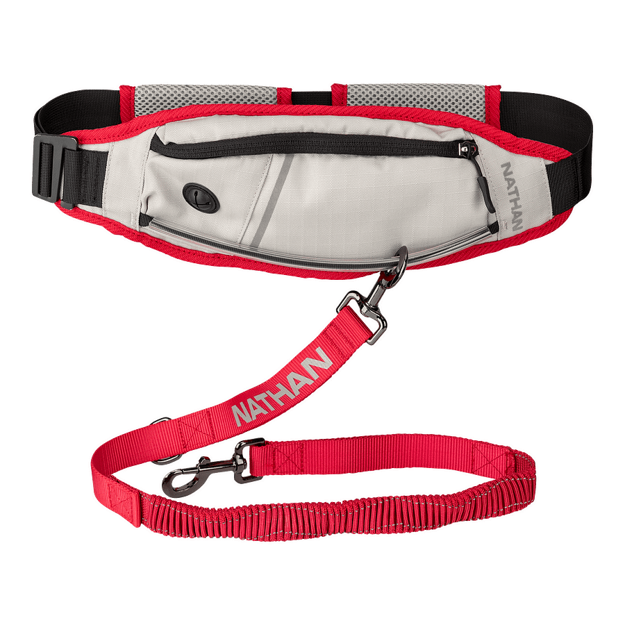 runners waist pack with leash