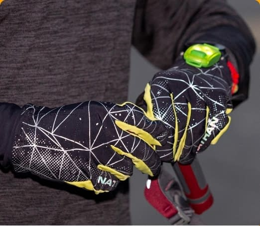 reflective graphics gloves