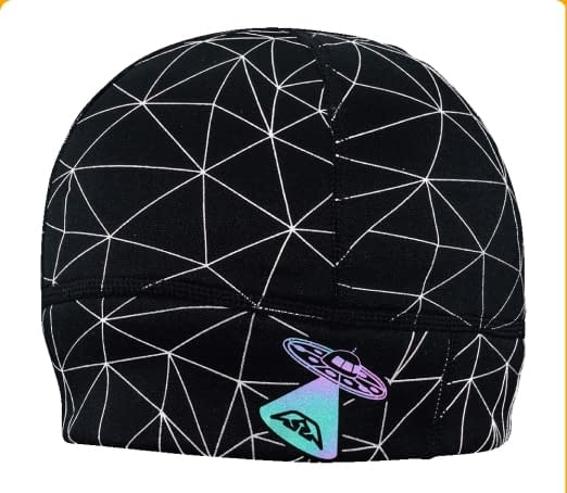 reflective graphics running beanie